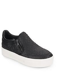 Ash Jig Embossed Leather Slip On Sneakers