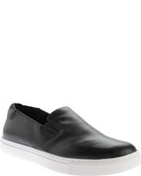 Kenneth Cole New York King Slip On Sneaker Black Leather Slip On Shoes