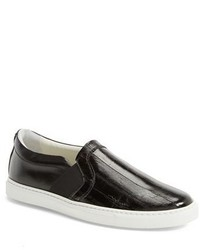 Lanvin Genuine Eel Leather Slip On Sneaker