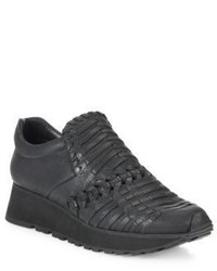 Ld Tuttle The Fossil Woven Leather Slip On Wedge Sneakers