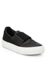 Helmut Lang Leather Slip On Sneakers
