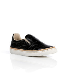 Maison Margiela Maison Margiela Embossed Leather Slip Ons