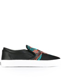 Marcelo Burlon County of Milan Embroidered Wings Slip On Sneakers