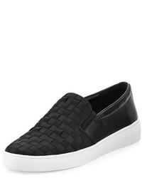 MICHAEL Michael Kors Michl Michl Kors Keaton Woven Slip On Skate Sneaker Black