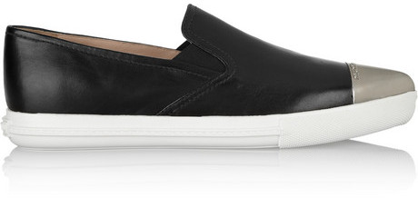 Miu Miu Black Slip-On Sneakers iJ5Vyr1w