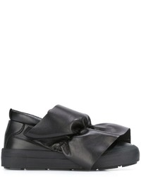 MSGM Frontal Drape Slip On Sneakers