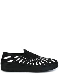 Neil Barrett Lightning Bolt Slip On Sneakers