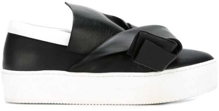 No.21 No21 Twist Detail Slip On Sneakers