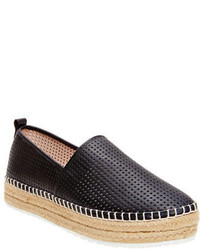 Steve Madden Perforated Faux Leather Slip On Sneakers