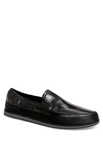 19eb1406fc27f ... Sneakers Prada Leather Slip On Black 13us 12uk