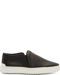 Rag and Bone Rag Bone Black Perforated Leather Kent Slip On Shoes