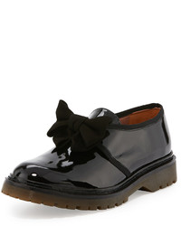 RED Valentino Patent Bow Slip On Sneaker Black