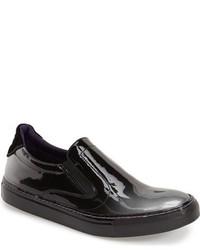 Robert Graham Rolo Patent Slip On Sneaker