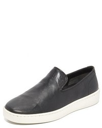 Vince Sanborn Leather Slip On Sneakers