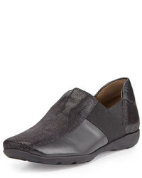 Sesto Meucci Geneva Leather Slip On Sneaker Black