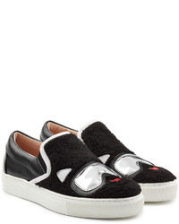 Karl Lagerfeld Slip On Sneakers With Leather