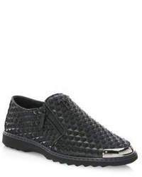 Giuseppe Zanotti Spike Leather Slip On Sneakers