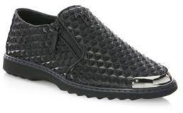 Giuseppe Zanotti Spike Leather Slip On Sneakers