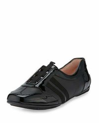 Taryn Rose Caya Patent Slip On Sneaker Black