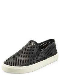 Tory Burch Jesse Perforated Slip On Sneaker Black