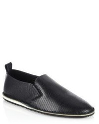 Uri Minkoff Union Leather Slip On Sneakers