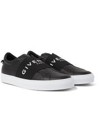 Givenchy Urban Street Logo Print Leather Slip On Sneakers