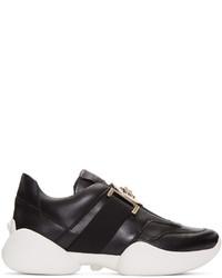 Versace Black Medallion Slip On Sneakers