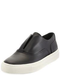 Vince Nelson Leather Slip On Sneaker Black