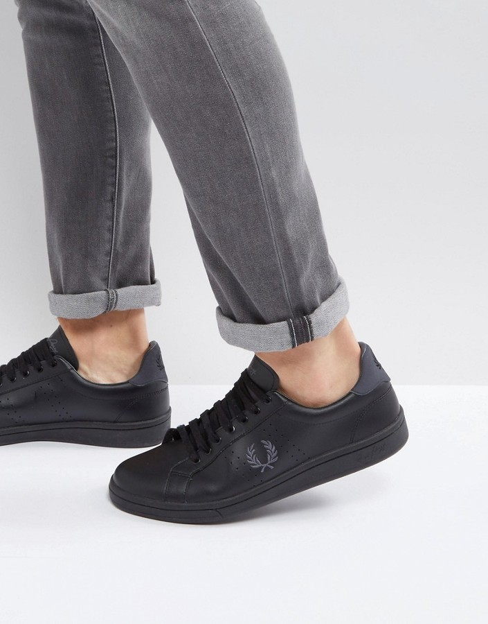 Fred Perry B721 Leather Sneakers, $110