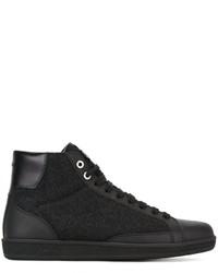 Brioni Textured Hi Top Sneakers