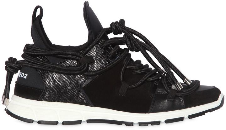 DSQUARED2 Bungy Jump Neoprene Leather