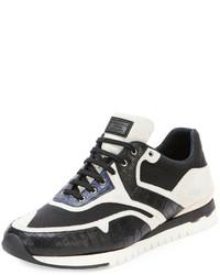 Stefano Ricci Croc Leather Sport Sneaker Black
