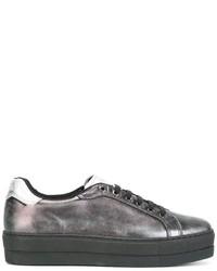 Diesel Platform Metallic Sneakers