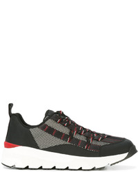 Christian Dior Dior Homme Block Panel Lace Up Sneakers