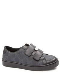 Gucci Kids Gg Supreme Leather Trim Sneakers