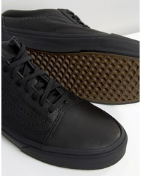 a9b6daa5436 ... Vans Old Skool Leather Perf Sneakers In Black Va2xs6l3a ...