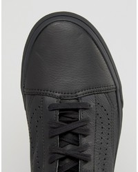 64b7cd40bf6 ... Vans Old Skool Leather Perf Sneakers In Black Va2xs6l3a