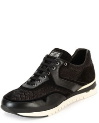 Stefano Ricci Python Leather Trainer Sneaker Black