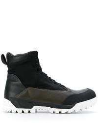 Stone Island Ridged Sole Hi Top Sneakers