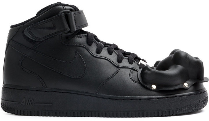 huge selection of 7efeb 8af8f ... Black Leather Sneakers Nike X Comme Des Garcons Homme Plus Moulded  Dinosaur Air Force 1 Mid Sneakers