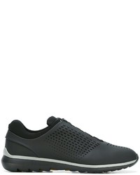 Z Zegna Perforated Detailing Sneakers