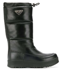 Prada Leather Moon Boots