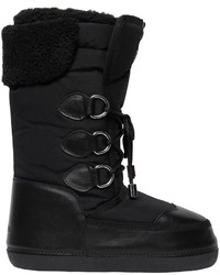 Dsquared2 Nylon Leather Snow Boots