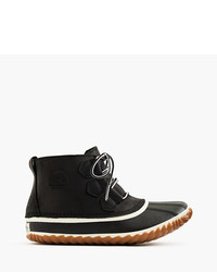 J.Crew Sorel Out N Abouttm Leather Boots In Black