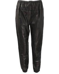 Elastic leather sweatpants medium 267796