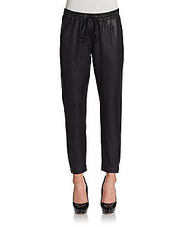 Faux leather jogger pants medium 122650