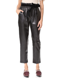 Jil faux leather joggers medium 5173571
