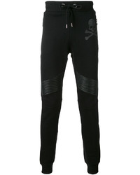 Leather biker patch track pants medium 3732088