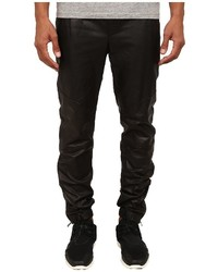 Vince Leather Moto Jogger