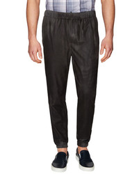 Vince Solid Leather Joggers